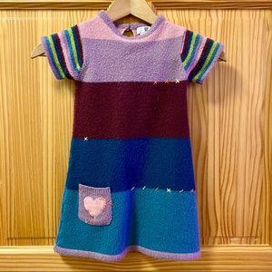 Deux par deux blue green purple SS sweater dress